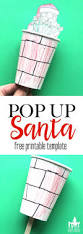 pop up santa craft for kids they will love this christmas craft