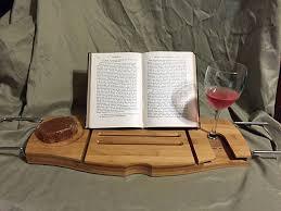 Bathtub Wine And Book Holder Umbra Natural Bamboo Bathtub Tray Book Caddy Reading Rack Wine