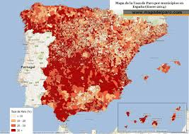 Catalonia Spain Map by Map Of Spain U0027s Unemployment Rates By Municipality Europe