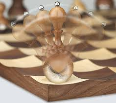 Futuristic Chess Set Elegant And Classy Wobble Chess Set By Adin Mumma Tuvie