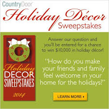 home decor sweepstakes 22 best holiday decor sweepstakes and winners by country door images