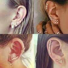 earring ear 15 fresh ways to stack your earrings