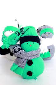 diy sock snowman super adorable christmas ornament
