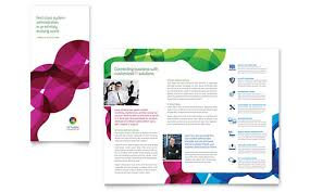 tri fold brochure template powerpoint network administration