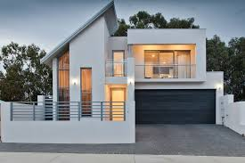 glass balcony railing exterior contemporary with attached garage