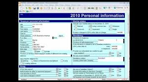 how to complete the canadian t2125 tax form using profile