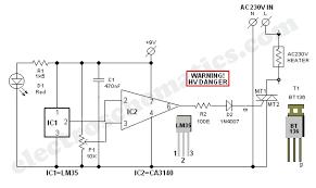 incubator thermostat circuit diagram circuit and schematics diagram