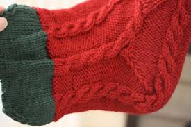 knitted christmas stockings melly sews