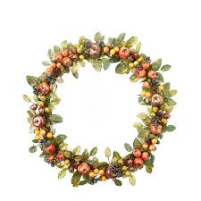 luxury fruit wreath by the home