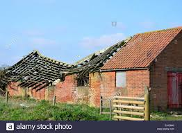 Barn Roof by Barn With Collapsed Roof Stock Photo Royalty Free Image 75012128