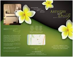 elegant personable brochure design for artistry of beauty by