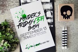 Halloween Birthday Invitations by The Makings Of A Party Xander U0027s 4th On Friday The 13th The