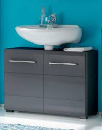 kommode badezimmer waschtisch kommode chrome waschbeckenunterschrank 2 trg grau