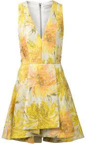 alice olivia aliceolivia floral jacquard flared dress where to