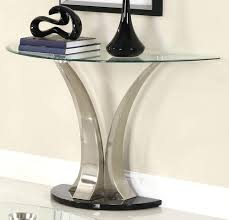 half moon table target side table half side table best moon glass top console with