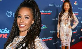 mel b wears eye popping see through dress on the america u0027s got