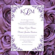 wedding invitations make your own purple wedding invitations kaitlyn printable templates make your
