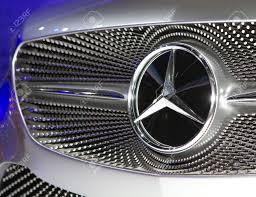 bangkok april 2 mercedes benz class a concept car logo on