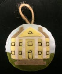 felt griswold house ornament florence griswold museum