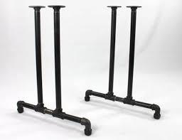 pipe table legs kit black pipe table frame table legs diy parts kit 2 end frames 1 2