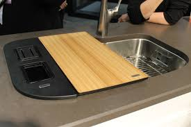 Countertop Cutting Board Bathroom Lowes Counter Tops With Tile Backsplash And Pendant Lamp