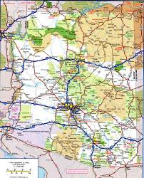 Large Scale Map Road Map Of Arizonafree Maps Of Us