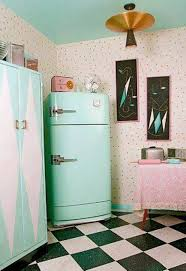 kitchen design awesome vintage style refrigerator retro kitchen