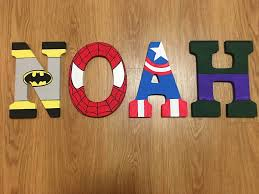superhero letters avengers marvel d c comics batman spider man