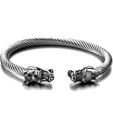 dragon bracelet silver images Coolsteelandbeyond elastic adjustable mens dragon jpg
