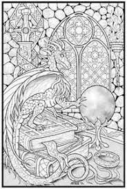 wizard dragon coloring pages adults bing images wood