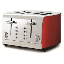 4slice Toasters Briscoes Russell Hobbs Rhmt4red Red 4 Slice Toaster