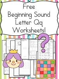 beginning sounds letter q worksheets free and fun