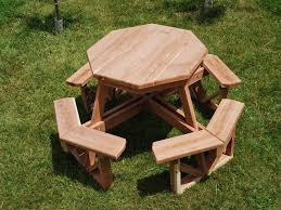 Octagon Patio Table Plans Octagon Picnic Table With Accent Ring Plan The Advantageous