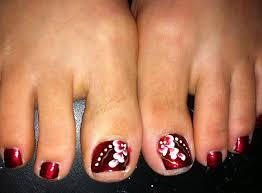 summer flowers toe nail art design youtube french flower toe nail