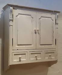 chic off white antique effect wall cabinet shabby paint bathroom