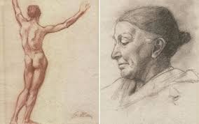 sketches that failed to secure his place at art academy to