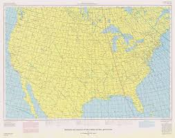 declination map magnetic declination in the united states epoch 1980 1980