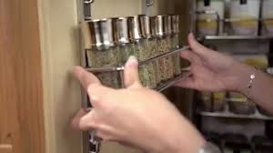 kitchen cabinet door spice rack adjustable spice rack youtube