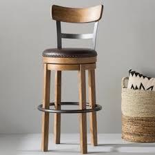 bar stools wood and leather farmhouse bar stools birch lane