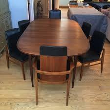 mid century modern dining room table mid century modern walnut dining set at 1stdibs