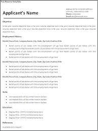 resume template printable resume blank resume template printable