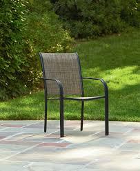 Stackable Outdoor Chair Essential Garden Bartlett Stackable Chair Brown