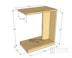 Wood Plans For End Tables by 20 Rolling C Side Table Ana White Sofa Tables And Furniture Plans