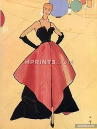 christian dior 1948 evening gown rené gruau fashion illustration