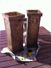 tall wooden planters so simple and very inexpensive considering