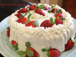 strawberry whipped cream birthday cake strawberries