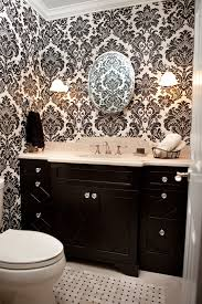 Damask Bathroom Accessories Breathtaking Black And White Damask Bathroom Set Decorating Ideas
