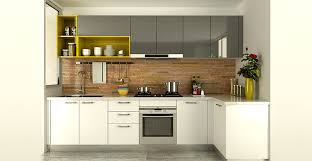 High Gloss Acrylic Kitchen Cabinets by Op15 A06 Modern White And Gray High Gloss Acrylic Kitchen Cabinet