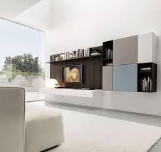contemporary tv wall unit lacquered wood oak liv 020