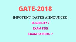 pattern of gate exam gate 2018 exam dates pattern fee importenet dates youtube
